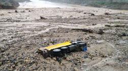 Giresun'da Şantiyeyi Sel Bastı
