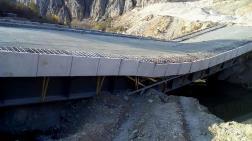 Belediyenin Yaptığı Köprü Açılmadan Çöktü