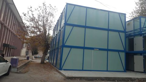 Saraçoğlu'nda Okul Bahçesi, Konteyner Bahçesine Dönüştü