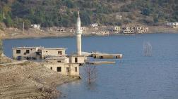 Su Seviyesi Düştü, Baraj Altındaki Evler Göründü