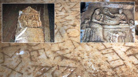 İnşaat Bahçesinde 2 Bin Yıllık Mezar Steli Bulundu
