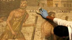 Zeugma Mozaik Müzesi'ndeki Eserler, Cerrah Hassasiyetiyle Temizleniyor