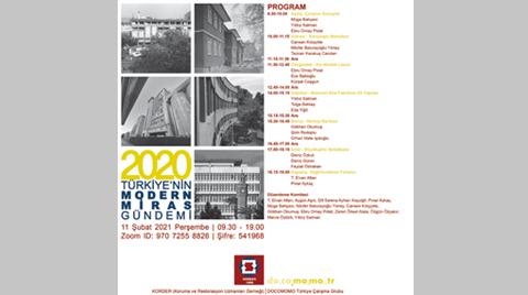 Türkiye'nin Modern Miras Gündemi – 2020