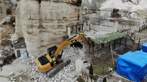 Kapadokya'da 353 Kaçak Yapı Yıkıldı