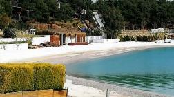 Mermer Tozuyla Plaj Yapıyorlar
