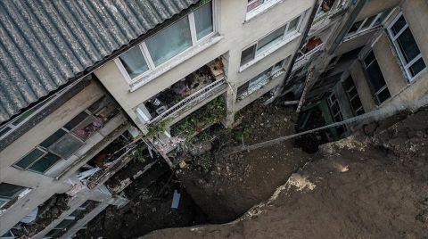 Bursa'da Heyelan Nedeniyle 7 Bina Boşaltıldı