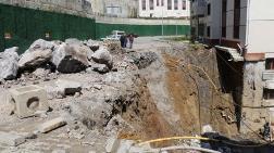 Zonguldak'ta Sitenin Yolu Çöktü