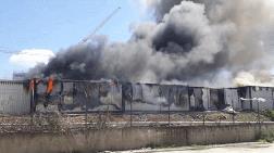 İnşaat İşçilerinin Kaldığı Konteynerlerde Yangın