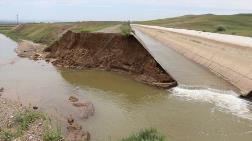 Çankırı'da HES Kanalının Duvarı Çöktü
