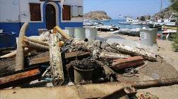 Bodrum'da Deniz Dibinden Bir Ton Atık Toplandı