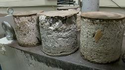 Eski Yapıların Karot Örneğinde Tahta ve Deniz Kabuğu Çıktı