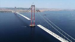 Çanakkale Köprüsü'nde 67 Tabliyenin Montajı Tamamlandı