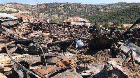Çamlıdere'de Çıkan Yangında 8 ev Kullanılamaz Hale Geldi