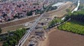 Halkalı-Kapıkule Demir Yolu'nun Viyadük Çalışmaları Sürüyor