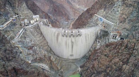 Yusufeli Barajı'nda Yüzde 91'lik Fiziki Gerçekleşme
