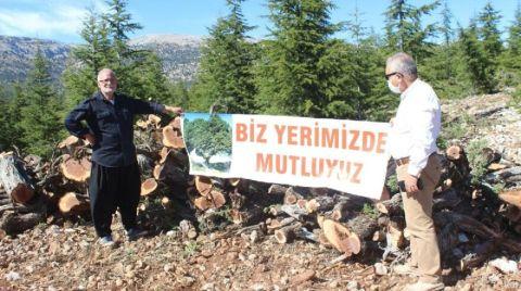 Mersin'de Köylülerden Ağaç Kesimine Karşı Eylem