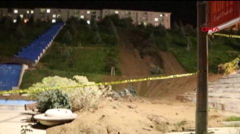 Belediyenin Yaptırdığı Vadide Toprak Kayması