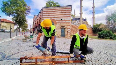 Selimiye Camii Çevre Düzenleme Çalışmaları Başladı