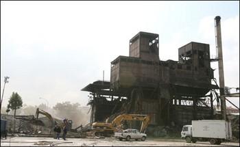 Ankara Hava Gazı Fabrikası yıkılırken