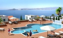 Royal Resort havuz manzara