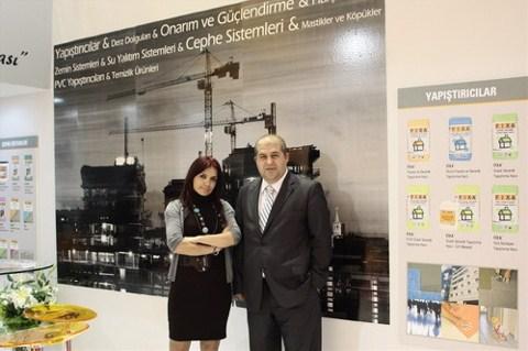 Fixa Yapı Kimyasalları İhracat Bölge Yöneticisi Esra Yıldırım ve Cem Ercan