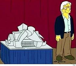 """Yıldız Mimar Frank Gehry """"The Simpsons""""da"""